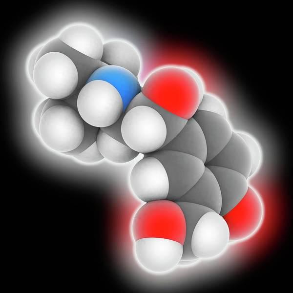 Short Cut Photograph - Salbutamol Drug Molecule by Laguna Design