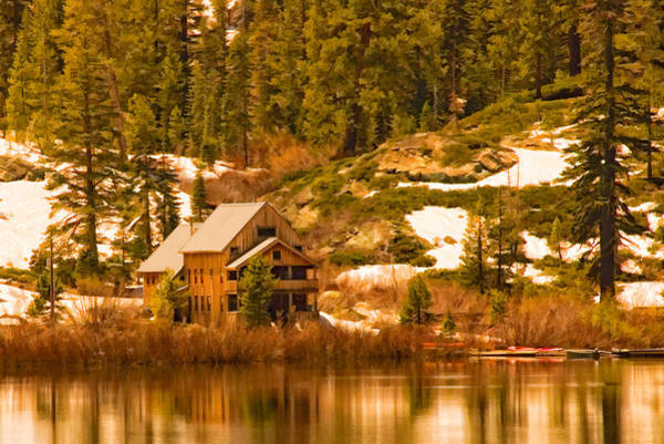 Digital Art - Salmon Lake Lodge by Mick Burkey