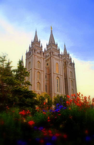 Holy City Photograph - Salt Lake City Lds Temple by Nathan Abbott