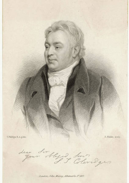 Wall Art - Drawing - Samuel Taylor Coleridge  Writer by Mary Evans Picture Library