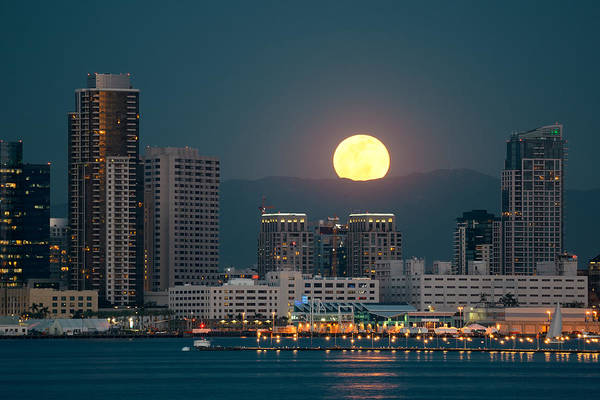 Wall Art - Photograph - San Diego Downtown Skyline by Songquan Deng