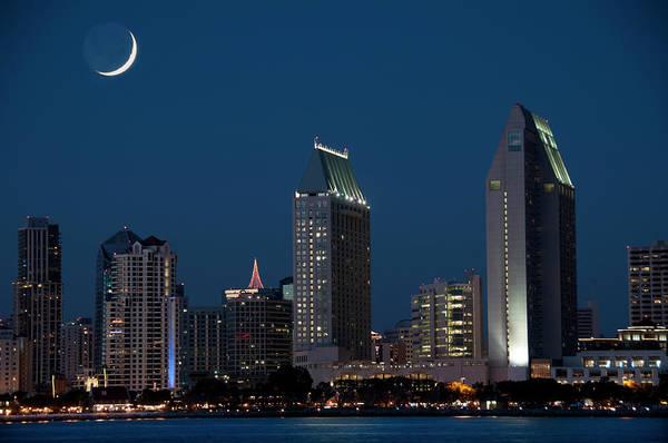 Half Moon Bay Photograph - San Diego Skyline by Mitch Diamond