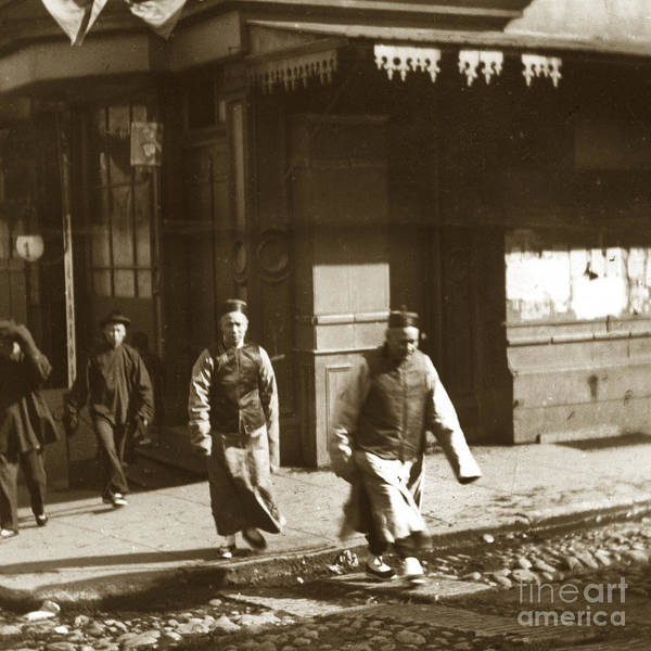Photograph - San Francisco Chinatown Circa 1900 by California Views Archives Mr Pat Hathaway Archives