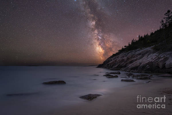 Michael Photograph - Sand Beach Acadia Milky Way by Michael Ver Sprill