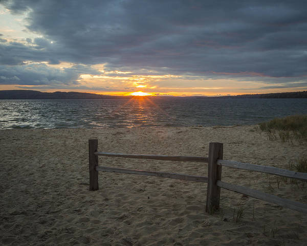 Photograph - Sand Point Beach Lake Superior by Jack R Perry