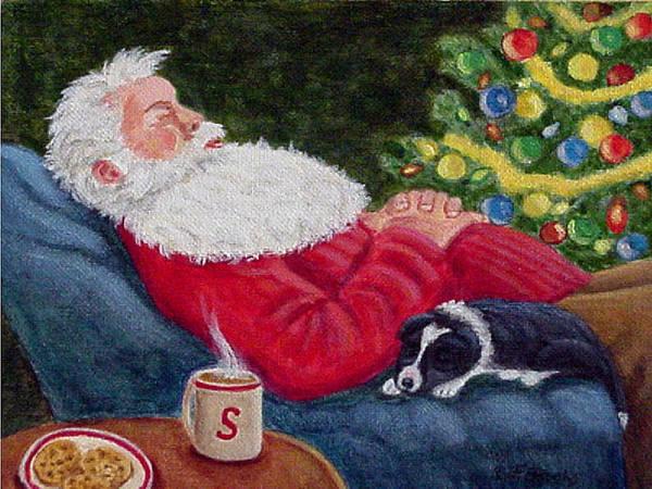 Santa And Breagh Art Print