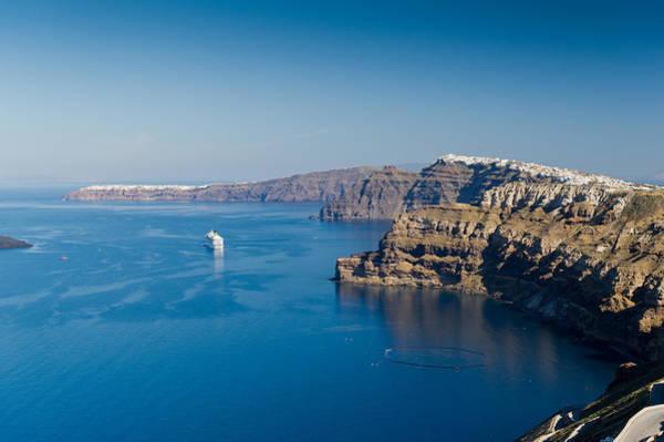 Photograph - Santorini Caldera by Gary Eason