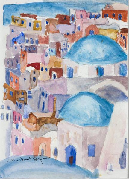 Santorini Splendor Art Print