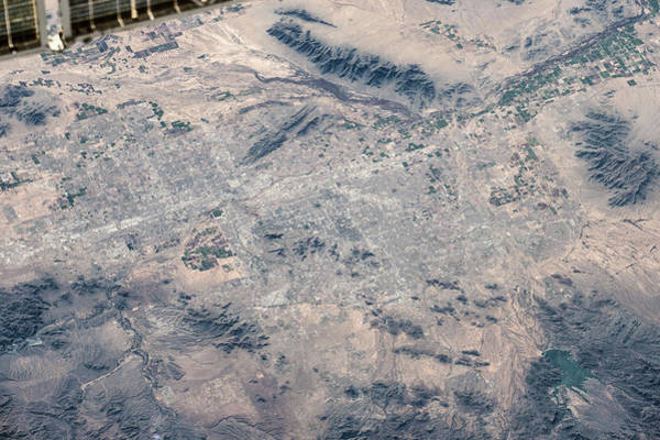 Iss Photograph - Satellite View Of Las Vegas, Nevada, Usa by Panoramic Images