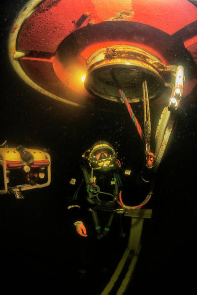 Diving Bell Photograph - Saturation Dive Training by Louise Murray