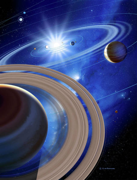 Wall Art - Photograph - Saturn And Solar System by Detlev Van Ravenswaay