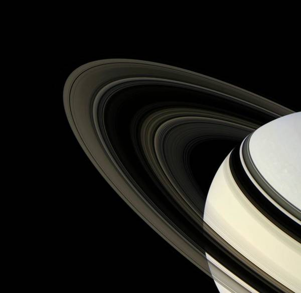 Wall Art - Photograph - Saturn's Rings by Nasa/jpl/ssi/science Photo Library
