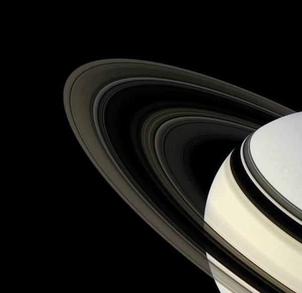 Wall Art - Photograph - Saturn's Rings by Nasa/jpl/ssi/science Photo Library