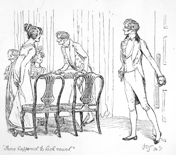 Flirting Drawing - Scene From Pride And Prejudice By Jane Austen by Hugh Thomson
