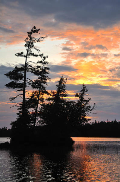 Bwcaw Photograph - Scenic Island On A Remote Wilderness Lake At Sunset by Mark Herreid