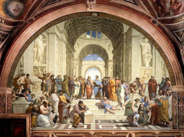 Painting - School Of Athens by Raphael