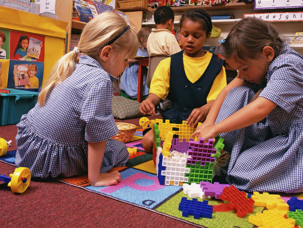 Classroom Photograph - Schoolchildren Playing by Martin Riedl/science Photo Library