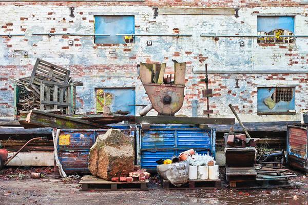 Closeup Wall Art - Photograph - Scrap Yard by Tom Gowanlock