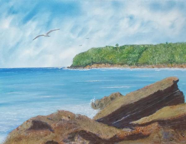 Painting - Seagull Seascape by Tony Rodriguez