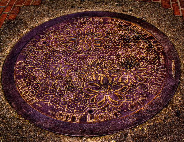 Wall Art - Photograph - Seattle Manhole Cover by David Patterson