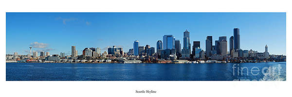 Puget Sound Photograph - Seattle Skyline by Twenty Two North Photography