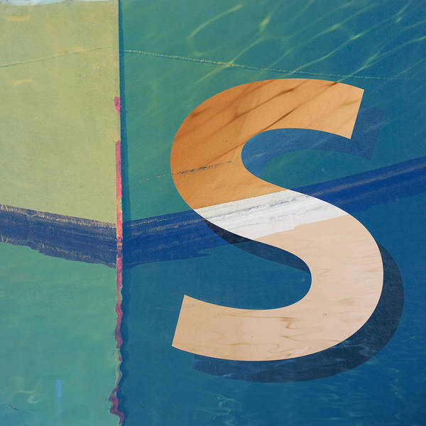 Letters Wall Art - Photograph - Seaworthy S by Carol Leigh