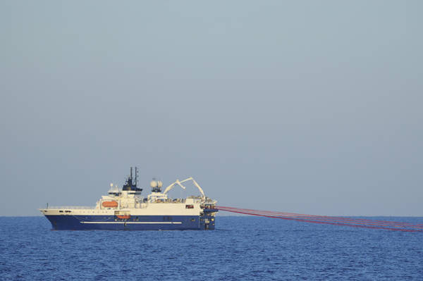 Photograph - Seismic Ship And Streamers by Bradford Martin