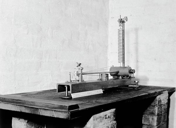The Weather Photograph - Seismograph by British Crown Copyright, The Met Office / Science Photo Library
