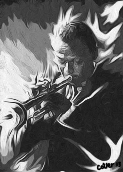 Cool Jazz Digital Art - Shades Of Miles by GR Cotler