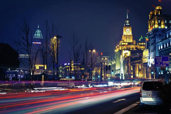 The Clock Tower Photograph - Shanghai by Raymond Image