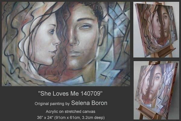 She Loves Me 140709 Art Print