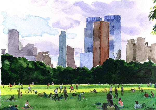 Painting - Sheep Meadow by Clifford Faust