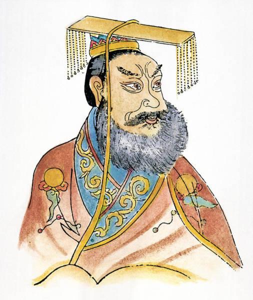 Wall Art - Drawing - Shih Huang Ti (259-210 B by Granger