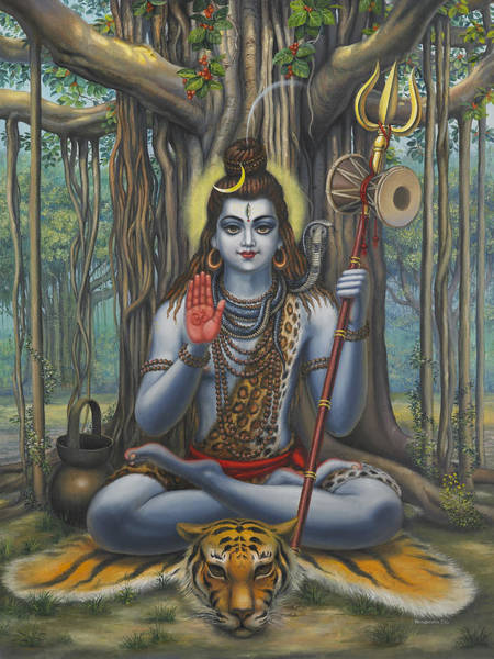 Om Wall Art - Painting - Shiva by Vrindavan Das