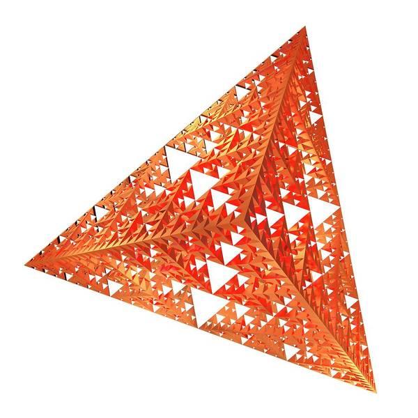 Wall Art - Photograph - Sierpinski Fractal Pyramid by Alfred Pasieka