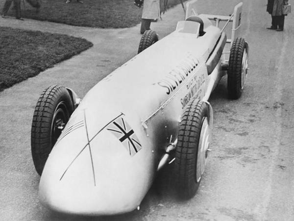 Wall Art - Photograph - Silver Bullet Race Car by Underwood Archives