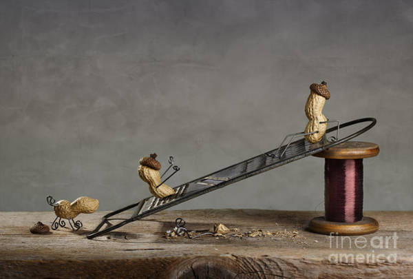 Figurine Wall Art - Photograph - Simple Things - Sliding Down by Nailia Schwarz
