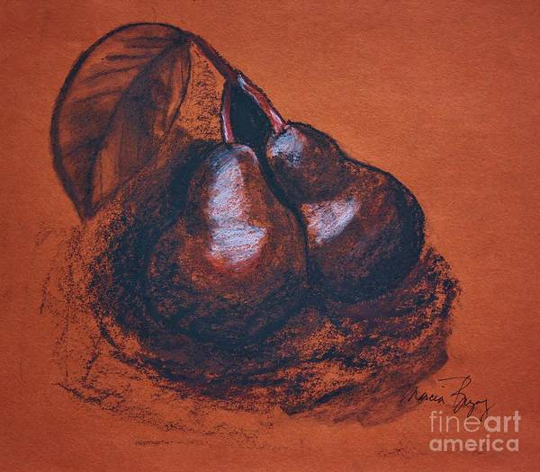 Drawing - Simply Pears by Marcia Breznay