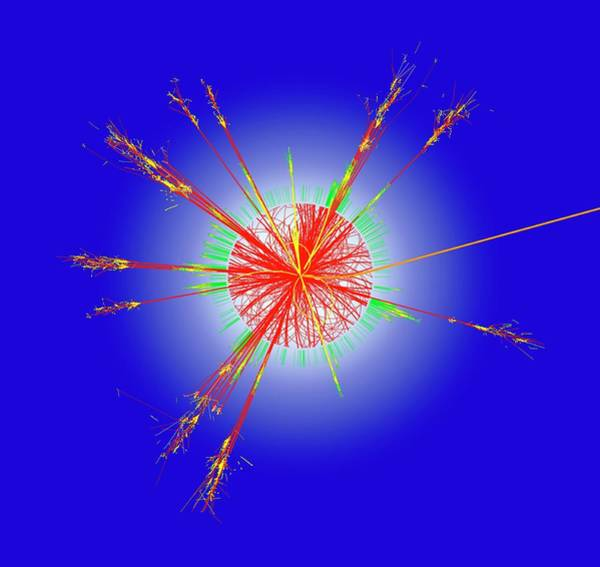 Proton Photograph - Simulated Microscopic Black Hole by Cern/science Photo Library
