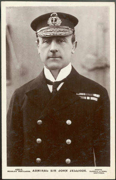 Wall Art - Photograph - Sir John Rushworth Jellicoe 1st Earl by Mary Evans Picture Library