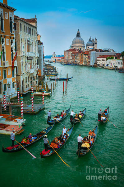 European Photograph - Six Gondolas by Inge Johnsson