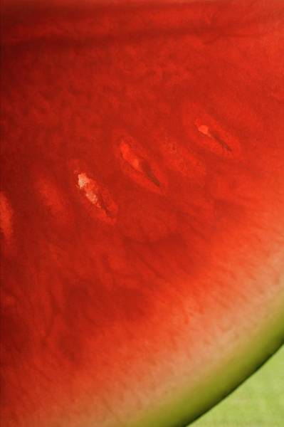 Watermellon Wall Art - Photograph - Slice Of Watermelon (detail) by Foodcollection