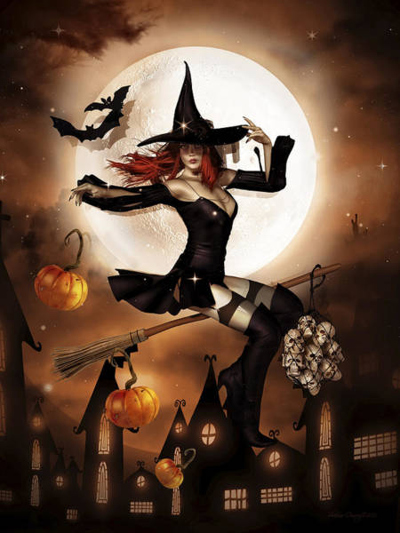 Pumpkin Digital Art - Smashing Pumpkins by Shanina Conway