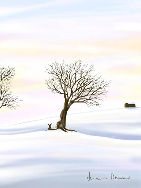 Snowscape Painting - Snow by Veronica Minozzi