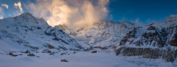 Wall Art - Photograph - Snowcapped Mountain, Annapurna Base by Panoramic Images