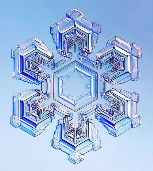 Flake Photograph - Snowflake by Kenneth Libbrecht/science Photo Library