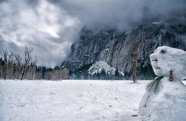 Snowman Photograph - Snowmen Of Yosemite by Cat Connor