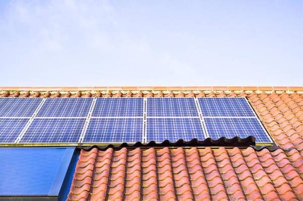 Energy-saving Wall Art - Photograph - Solar Panels by Tom Gowanlock
