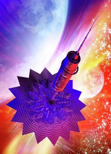 Wall Art - Photograph - Solar Sail Spaceship by Victor Habbick Visions/science Photo Library