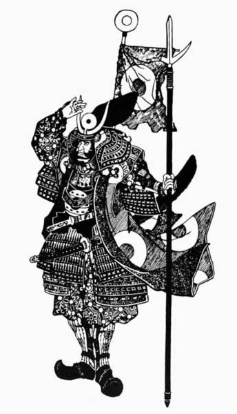 Feudal Japan Wall Art - Painting - Soldier Samurai by Granger